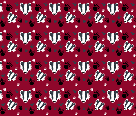 Badgers fabric by redthanet on Spoonflower - custom fabric