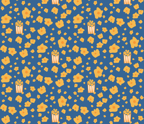 Circus Treats Popcorn airbourne fabric by colour_angel_by_kv on Spoonflower - custom fabric