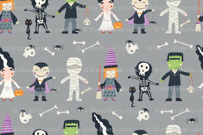 Trick  or treat in grey