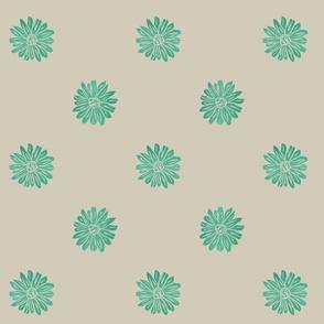 daisies aqua