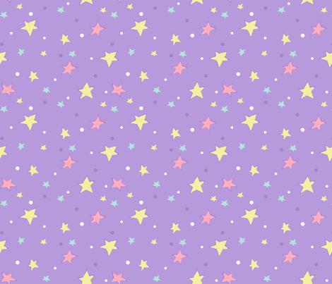 Unicorn starry sky fabric slumbermonkey spoonflower for Starry sky fabric