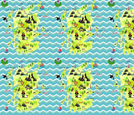 Scotland my Home fabric by floramoon_designs on Spoonflower - custom fabric