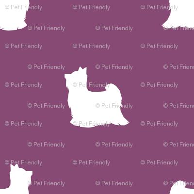 Biewer Terrier silhouette minimal dog breed amethyst