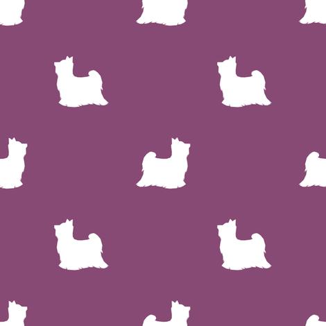 Biewer Terrier silhouette minimal dog breed amethyst fabric by petfriendly on Spoonflower - custom fabric