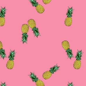 Pineapple Ditzy // Hawaiian Luau Rose Pink