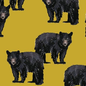Bears Bears Bears on Gold - Larger Scale