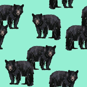 Bears Bears Bears on Mint - Larger Scale