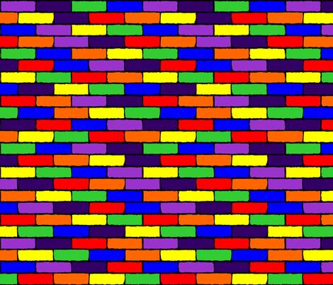 Rainbow Bricks fabric by fabric_rocks on Spoonflower - custom fabric