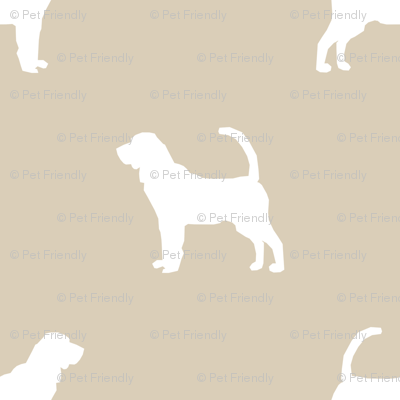 Bloodhound silhouette minimal dog fabric sand