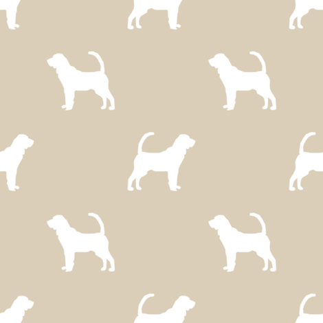 Bloodhound silhouette minimal dog fabric sand fabric by petfriendly on Spoonflower - custom fabric