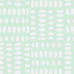 Dot Repeat with Mint Background