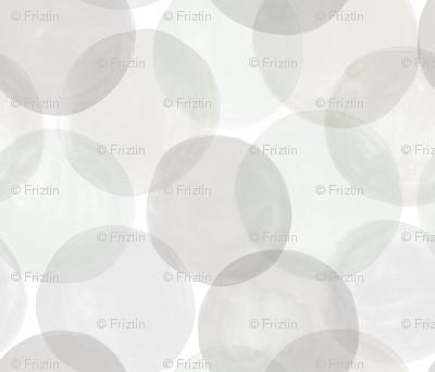 Huge Watercolor Dots Grey Hues by Friztin