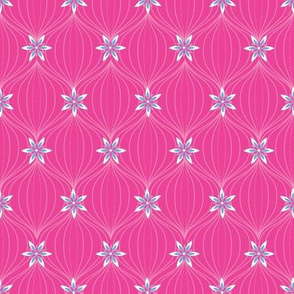 small pretty flower on pink ogee