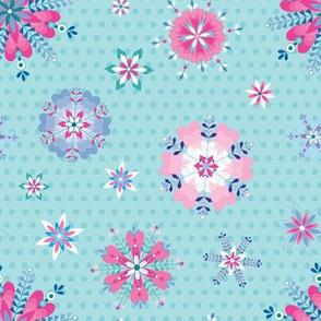 pretty geometric floral on spots