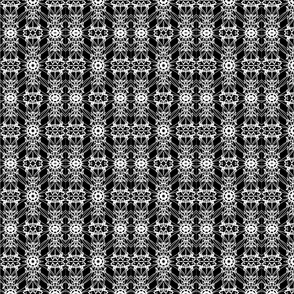 Black and White Industrial Pattern 01