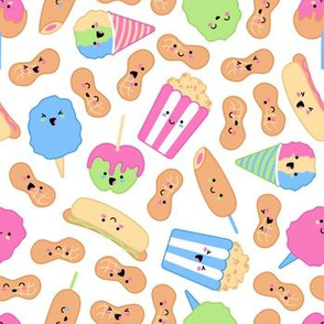 Kawaii Circus Treats - Brights on white