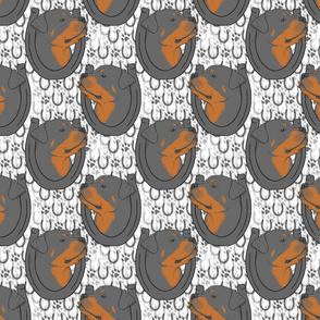 Rottweiler horseshoe portraits