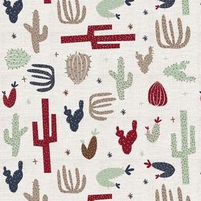 southwest cactus burgandy