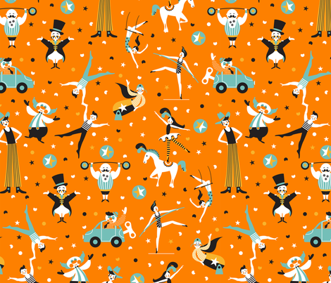 circus performers fabric by cjldesigns on Spoonflower - custom fabric
