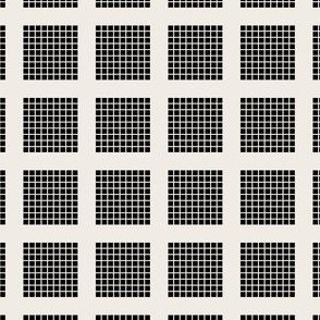 Grid of Grids - Black on Newsprint