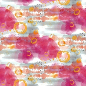 Pink orange happy_abstract