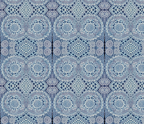 blue_mood_2 fabric by jennifer_grantham_#justabitofscribble on Spoonflower - custom fabric