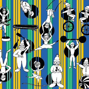 Color Me In! Circus Performers