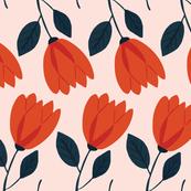 Summer Garden - Floral Stem - Pink