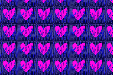 Heartbeat Fluorescent Pink Hearts Upholstery Fabric fabric by llukks on Spoonflower - custom fabric