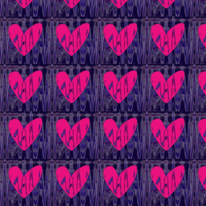 Heartbeat Fluorescent Pink Hearts Upholstery Fabric