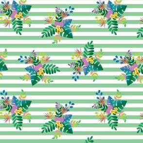 Rainforest Verdant Green Stripe