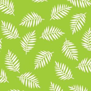 Rainforest Verdant Green Palm Leaves