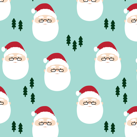 santa claus  || holiday fabric fabric by littlearrowdesign on Spoonflower - custom fabric