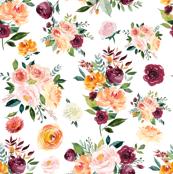 Autumn Floral Watercolor