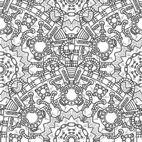 Steampunk Mandala Zentangle
