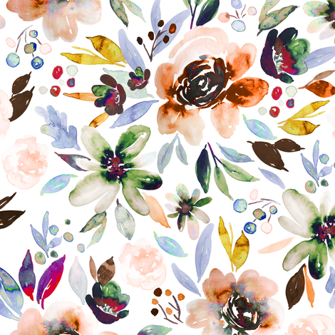 Indy Bloom Design Autumn Berry_Rose fabric by indybloomdesign on Spoonflower - custom fabric