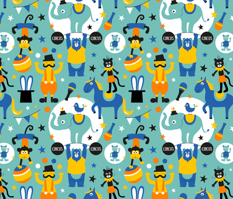 Extra-Performers fabric by la_fabriken on Spoonflower - custom fabric