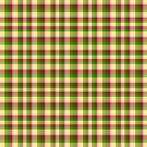 okra_onion_oregano_plaid_tea_towel