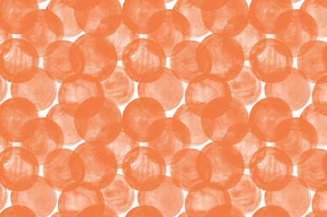 Huge Watercolor Dots M+M Tangerine by Friztin fabric by friztin on Spoonflower - custom fabric