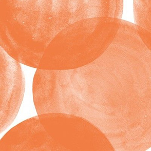 Huge Watercolor Dots M+M Tangerine by Friztin