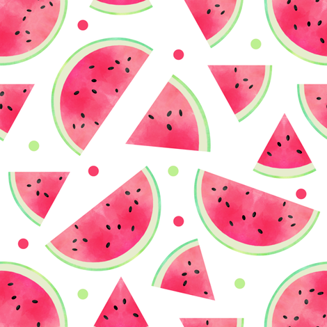 Watercolor Watermelon fabric by jannasalak on Spoonflower - custom fabric