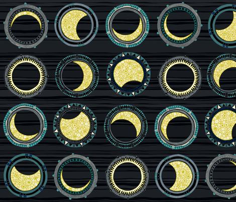 solar eclipse mandala fabric by scrummy on Spoonflower - custom fabric