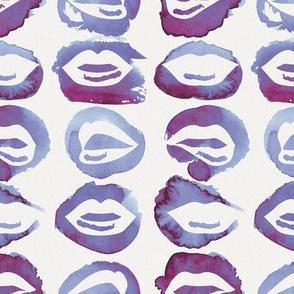 Purple Watercolor Lips