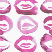 Pink Watercolor Lips