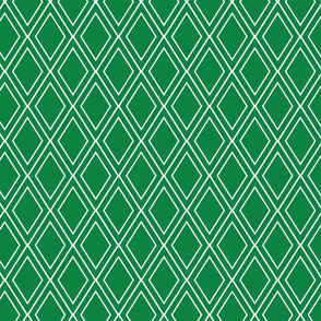 Rainforest Verdant Emerald Diamond Lattice