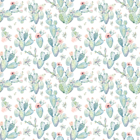 "4"" Love Dreaming Boho Style Succulents fabric by shopcabin on Spoonflower - custom fabric"