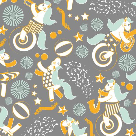 Equestrian modern circus 3 fabric by selmacardoso on Spoonflower - custom fabric