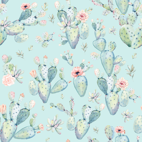 8 Quot Love Dreaming Boho Style Succulents Aqua Wallpaper