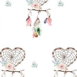 "4"" Love Boho Style Dreamcatcher"