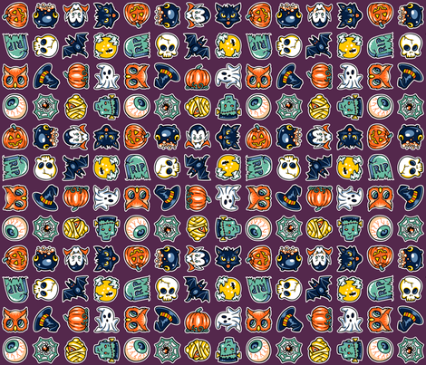 Halloween Hoopla - Gaggle of Ghouls - Large fabric by shannanigan on Spoonflower - custom fabric